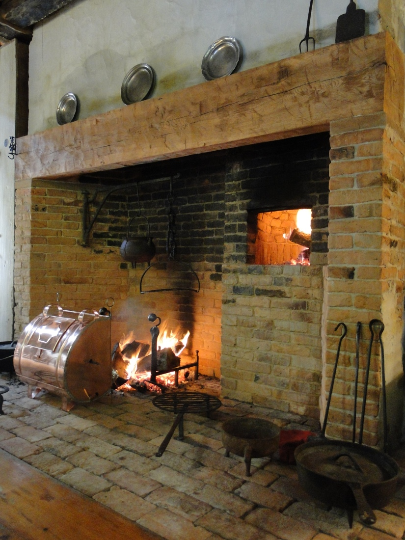 Walk in fireplace reproduced in 1778 House